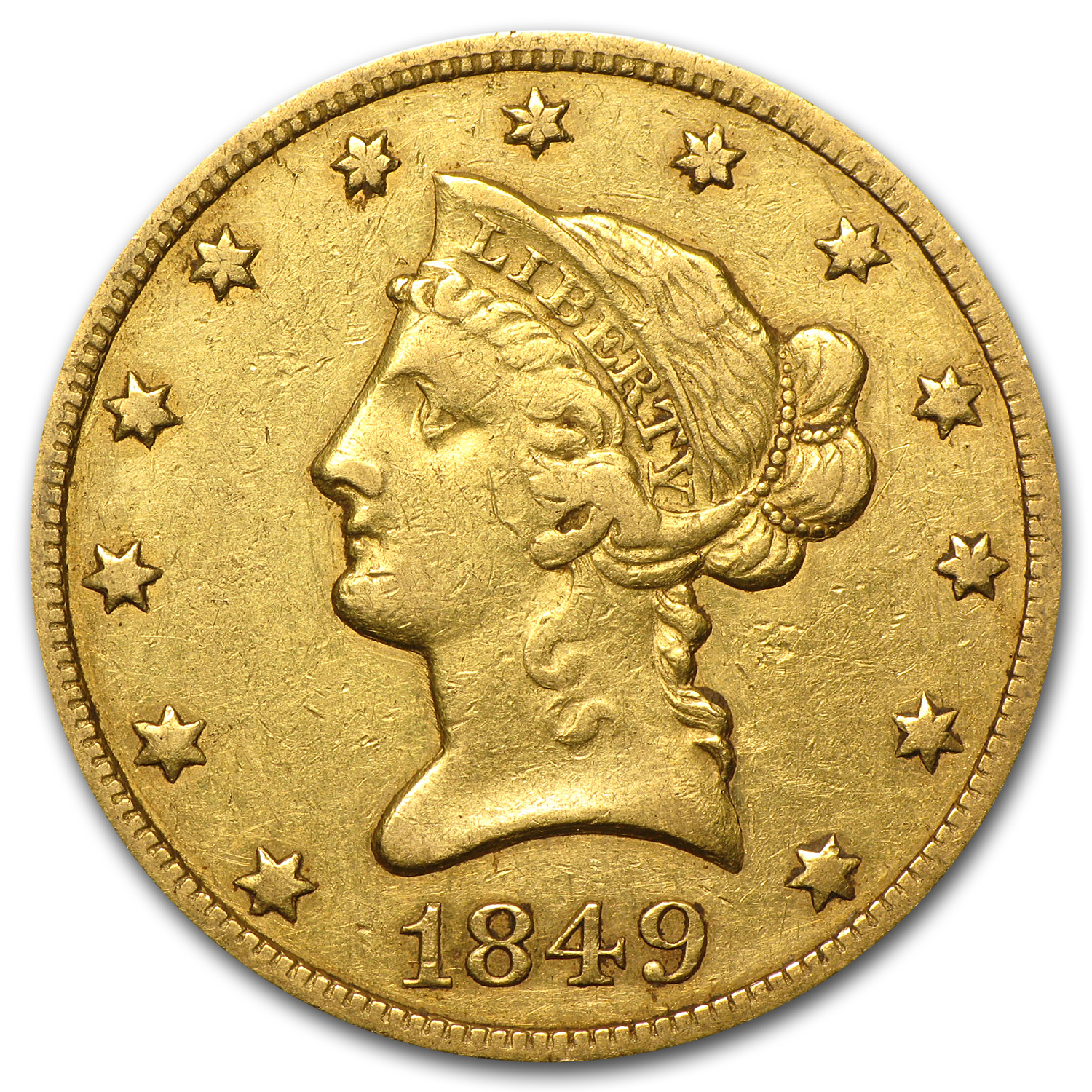 1849 $10 Liberty Gold Eagle VF